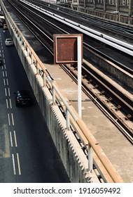 Train track in the city of Kuala Lumpur