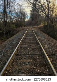 A train track in the country