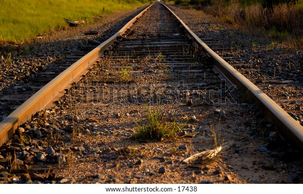 Train tracks going into the distance