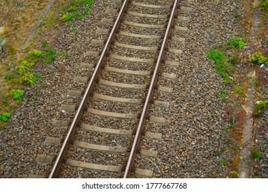 Train tracks in Gravel for Deutsche Bahn S bahn