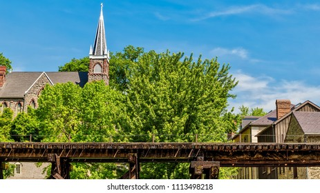 The train tracks at Harpers Ferry, WV.
