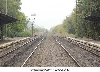 Train tracks, station perspective