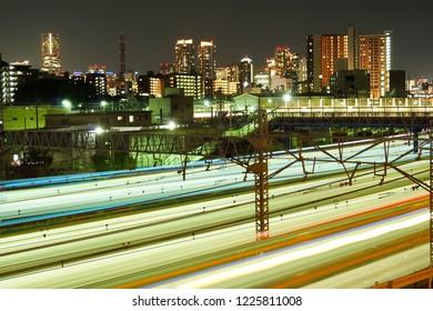 Train trajectory (Kanagawa Prefecture Yokohama City)