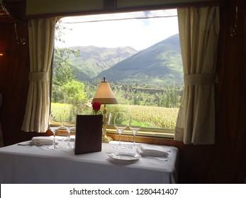 Train travel, Sacred Valley, Peru