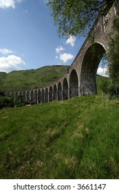 Train trestle in Scotland (seen in Harry Potter movies)