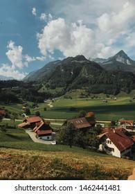 Train view of Giswil Switzerland