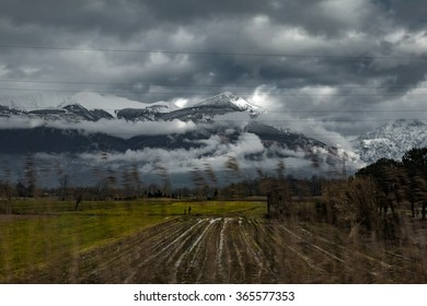 Train view in Italy