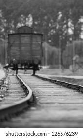 Train wagon Auschwitz Birkenau