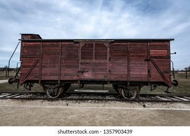 Train wagon used to transport Jews during the holocaust to Auschwitz.
