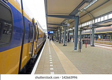 Train waiting at  s-Hertogenbosch station in the Netherlands