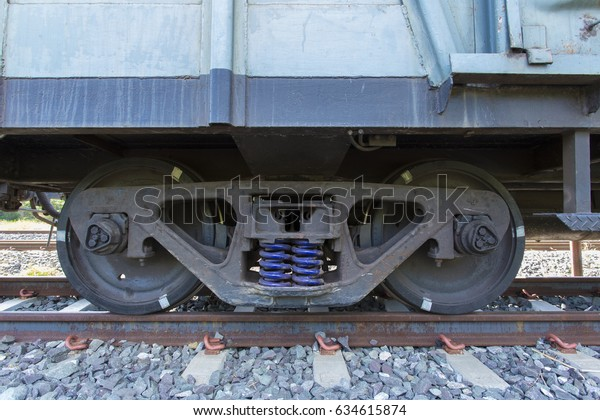 Train Wheels Chock Support Axle On Stock Photo (Edit Now