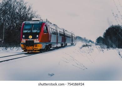 train in the winter