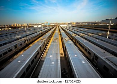 Train yard New York City