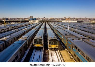 Train yard New York City (Long Island Rail Road)
