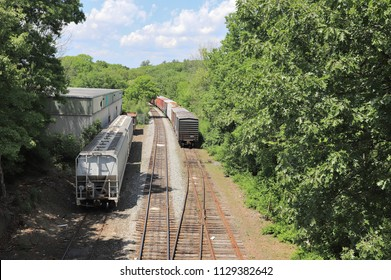 Train Yard View #2 Normal - Walpole, MA.