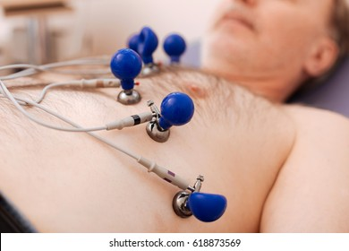 Trained cardiologist making an echocardiogram