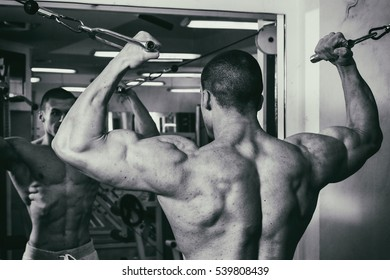 A trained man in a fitness club