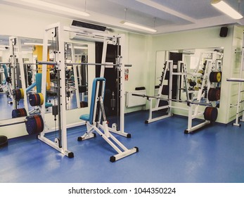 training apparatus in the gym