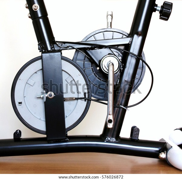 Training Bike Inside Exercise Bike Parts Stock Photo (Edit