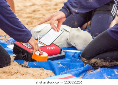 training CPR and AED in victim drowning