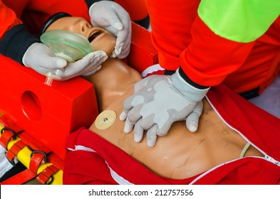 Training dummy used by paramedic trainees.