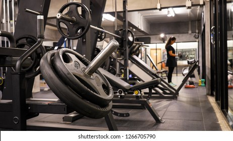 Training equipment at gym.