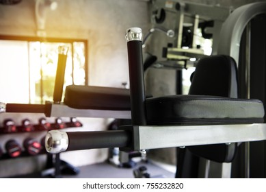 training equipment in the gym at sports club for exercise.