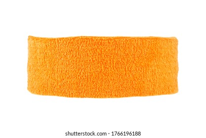 Training headband isolated on a white background. Orange color.
