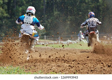 Training at the motocross track.