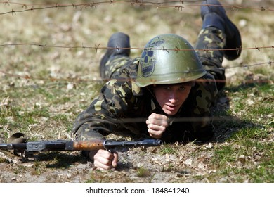 Training of National Guard of Ukraine in Novi Petrivci, Ukraine, 31 March 2014