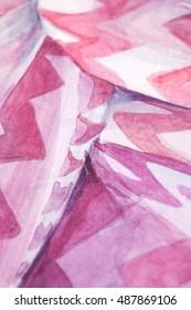 Training paintings, gouache, watercolor, part, detail