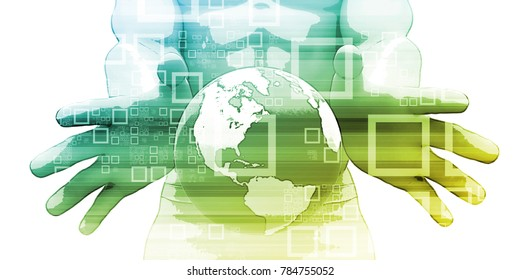 Training Portal for Global Education Online Art 3d Render