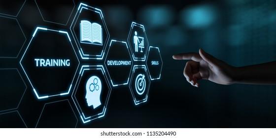 Training Webinar E-Learning Kompetenz Business Internet Technology Konzept.