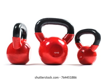 Training weights isolated on white background. Kettlebell.