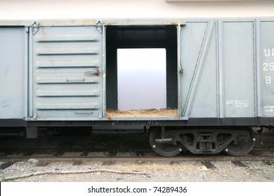 train's bogie in the evening