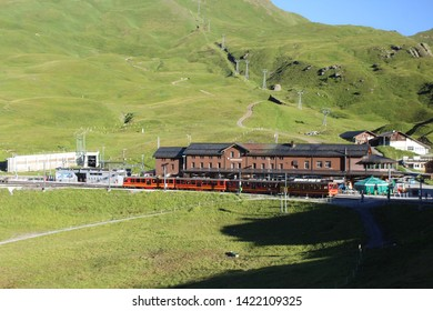 Trains plying the Jungfrau Railway, Switzerland