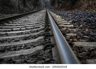 A trains railroad view from below