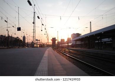 Trainstation during Sunset