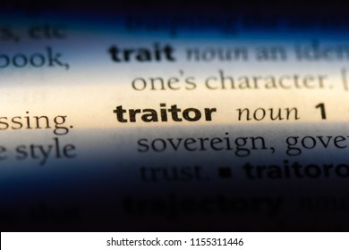 traitor word in a dictionary. traitor concept.