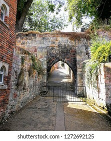 Traitor's Gate by the River Severn in the old town walls of Shrewsbury, Shropshire, England