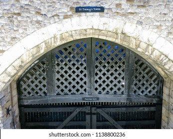 """""""Traitor's Gate"""" at the Tower of London, March 2018."""