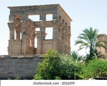 The Trajan Kiosk in the Philae Temple, Egypt