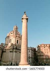 Trajan's Column located in Trajan's Forum, Rome, Italy