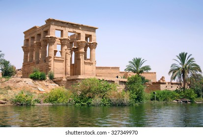 Trajan's Kiosk of Philae. The Philae Temple, on Agilkia Island, Aswan, Egypt