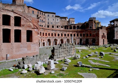 Trajan's Market is a large complex of ruins in the city of Rome, Italy, located on the Via dei Fori Imperiali. It is also known as Mercati di Traiano, Europe. MARCH 2018
