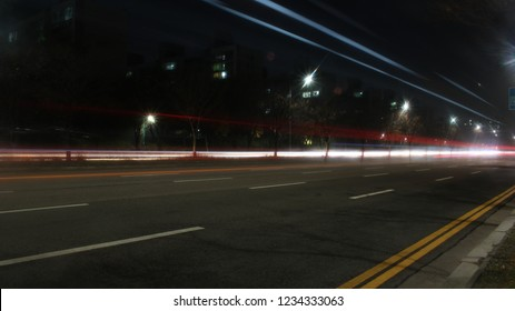 Trajectory of automobile light