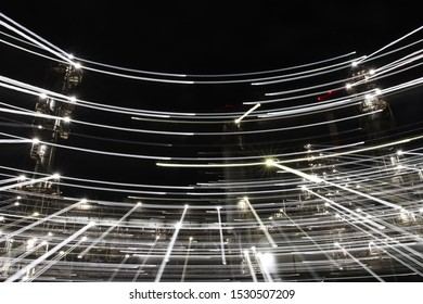 Trajectory of light produced by the factory night view (Yokkaichi Complex, Shiohama)