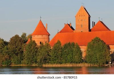 Trakai castle, Autumn evening