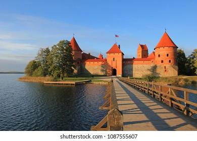 Trakai Castle, lake Galve, Trakai Island Lithuania Europe
