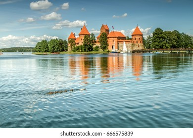 Trakai Castle on Lake Galve Island